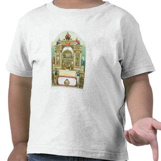 Emblème commercial de la société amalgamée de t-shirts