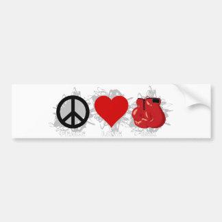 Emblème de boîte d'amour de paix autocollant pour voiture