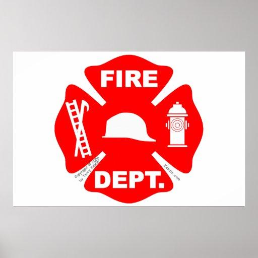 Emblème de corps de sapeurs-pompiers - affiche