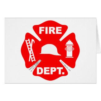 Emblème de corps de sapeurs-pompiers - carte