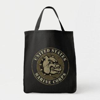 Emblème de cru de chien de diable sacs fourre-tout