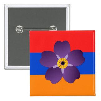 Emblème de génocide arménien et bouton centennaux badges