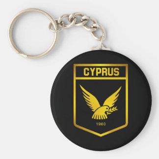 Emblème de la Chypre Porte-clé Rond