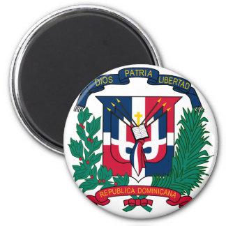 emblème de la République Dominicaine Magnet Rond 8 Cm