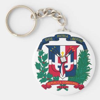 emblème de la République Dominicaine Porte-clé Rond