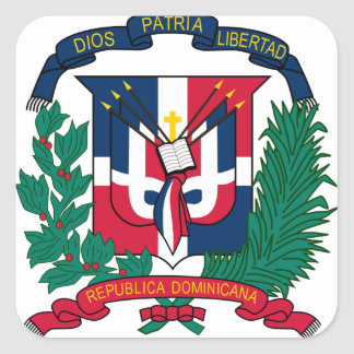 emblème de la République Dominicaine Sticker Carré