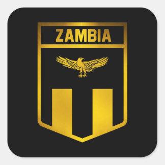Emblème de la Zambie Sticker Carré