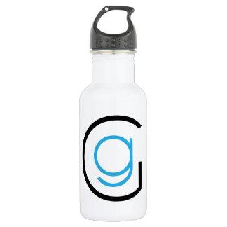 Emblème de logo de GG Bouteille D'eau
