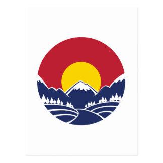Emblème de montagne rocheuse du Colorado Cartes Postales
