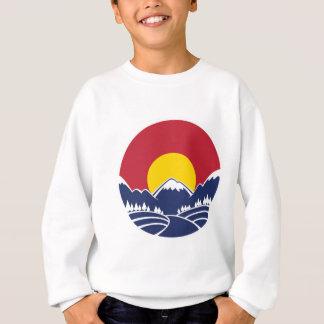 Emblème de montagne rocheuse du Colorado Sweatshirt