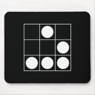 Emblème de pirate informatique tapis de souris