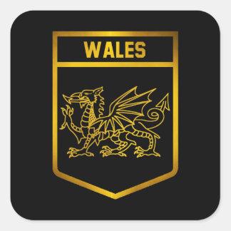 Emblème du Pays de Galles Sticker Carré