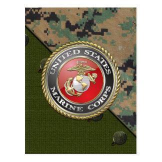 Emblème d'usmc et uniforme [3D] Carte Postale
