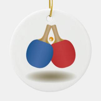 Emblème frais 2 de ping-pong ornement rond en céramique