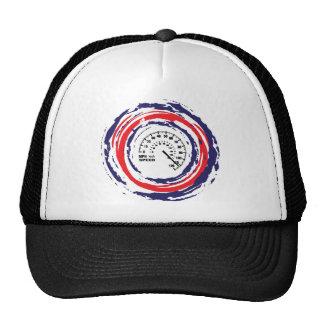 Emblème frais de vitesse (bleu et blanc rouges) 2 casquette trucker