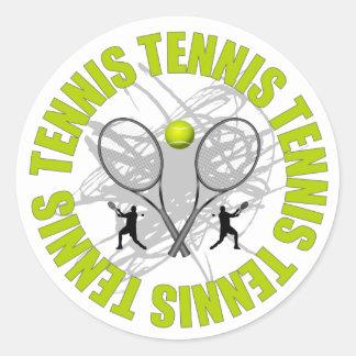 Emblème gentil de tennis sticker rond