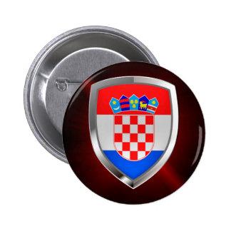 Emblème métallique de la Croatie Badges