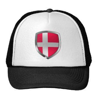 Emblème métallique du Danemark Casquette De Camionneur