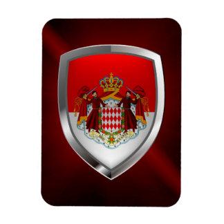 Emblème métallique du Monaco Magnet Rectangulaire Avec Photo