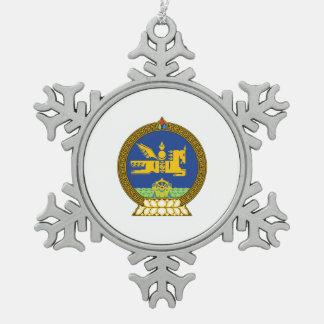 Emblème (mongol) mongol ornement flocon de neige pewter