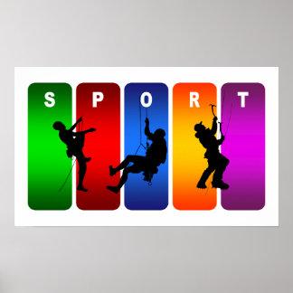 Emblème multicolore d'alpinisme poster