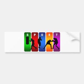Emblème multicolore de boxe autocollant de voiture