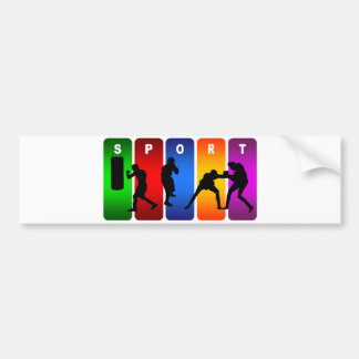 Emblème multicolore de boxe autocollant pour voiture