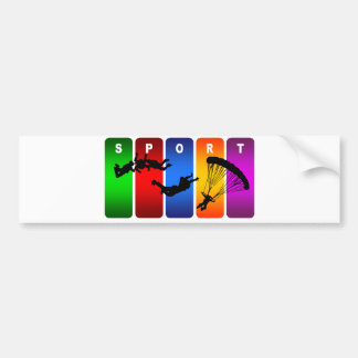 Emblème multicolore de parachutisme adhésifs pour voiture