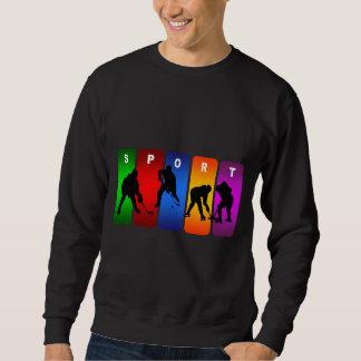 Emblème multicolore d'hockey sweatshirt