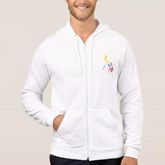 Emblème philippin de carte veste à capuche