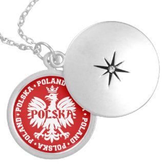 Emblème polonais de Polska Eagle Médaillon Avec Fermoir