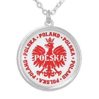 Emblème polonais de Polska Eagle Pendentif Rond