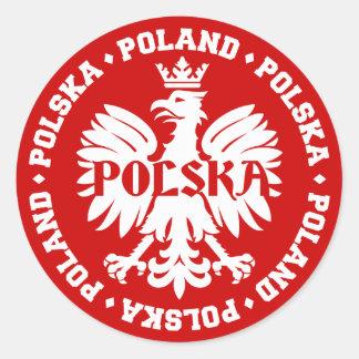 Emblème polonais de Polska Eagle Sticker Rond