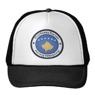 Emblème rond de Kosovo Casquettes De Camionneur