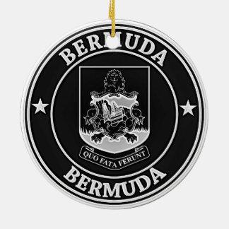 Emblème rond des Bermudes Ornement Rond En Céramique
