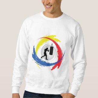 Emblème tricolore de boxe sweatshirt