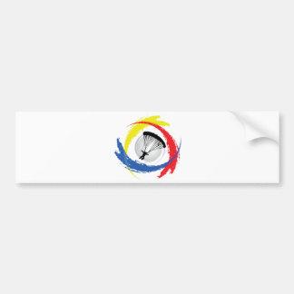 Emblème tricolore de parachutage autocollants pour voiture