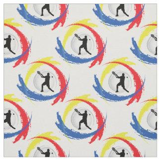 Emblème tricolore de sport de tennis (version tissu