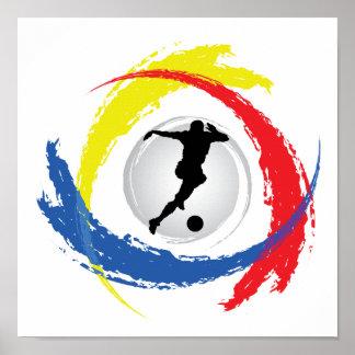 Emblème tricolore du football posters