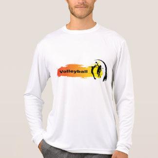 Emblème unique de volleyball t-shirt