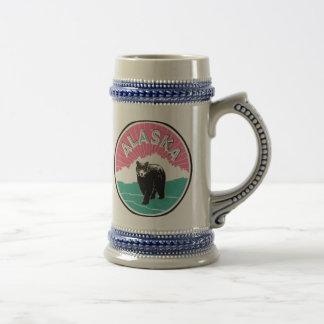 Emblème vintage Stein de l'Alaska Chope À Bière