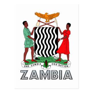 Emblème zambien carte postale