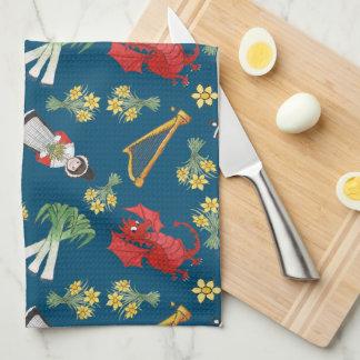 Emblèmes de Gallois d'amusement sur la serviette Serviettes Pour Les Mains