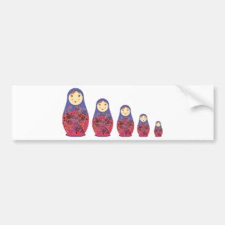 Emboîtement russe/Babushka de ~ de poupée de Matry Autocollant De Voiture