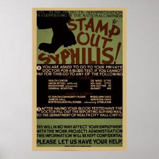Emboutissez l'affiche vintage de santé de WPA de Posters