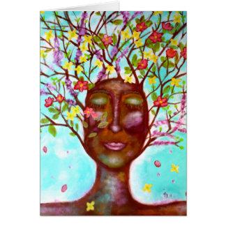Embranchez-vous et fleurissez carte d'art