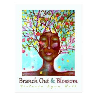 Embranchez-vous et fleurissez mini carte postale