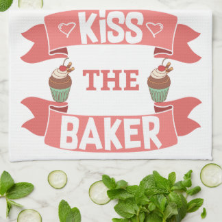 Embrassez la serviette de cuisine de Baker