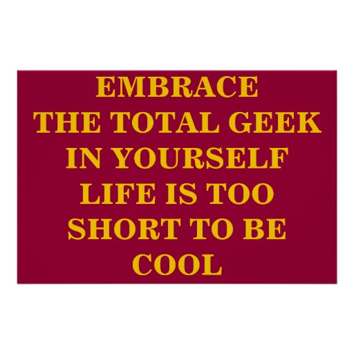 Embrassez le geek total poster