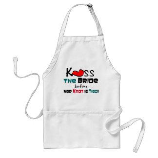 Embrassez le T-shirts et les cadeaux de jeune mari Tabliers